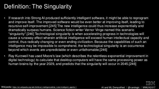 AI szingularitás definíció