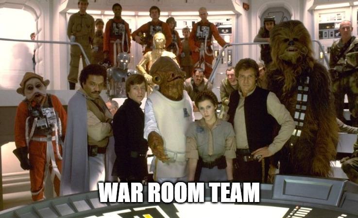 War room résztvevők